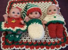 "Babies' First Christmas - 8.5"" baby - Free Original Patterns - Crochetville"