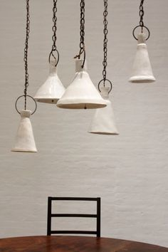 Ceramic Funnel Lamps by Natalie Page via BDDW I Remodelista