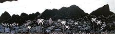 Minha terra tem palmeiras onde cantam sabiás, 2011 Lúcia de Lima ( Rio de Janeiro, 1947) acrílica sobre tela,   40 x 128 cm www.luc...