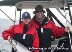 Following in dad's footsteps. Father-son fishing in Haida Gwaii. http://www.peregrinelodge.com/blog.php?p=204