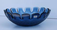 Mid Century Modern Swedish Bo Borgstrom Svensk Form Blue Art Glass Bowl for Aseda. $69.99, via Etsy.