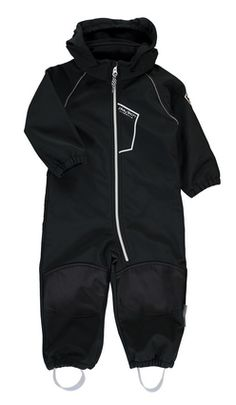 Name it AW15: Alfa mini Softshell suit solid Black (80 - 116 cm)