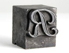 metal letterpress - R