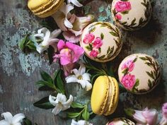 These hand-painted macarons are too sweet to eat, but too pretty to ignore.