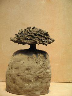 Anne-André Carron - Arbre Sculpture en terre cuite