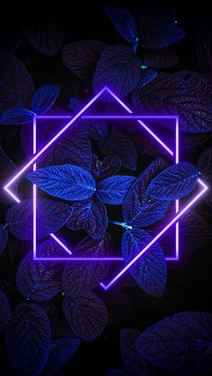 Beautiful purple neon with leaves wallpaper for your phone! Hd Wallpaper Für Iphone, Frühling Wallpaper, Neon Light Wallpaper, Phone Wallpaper Images, Flower Phone Wallpaper, Apple Wallpaper, Aesthetic Iphone Wallpaper, Cute Wallpaper Backgrounds, Aesthetic Wallpapers