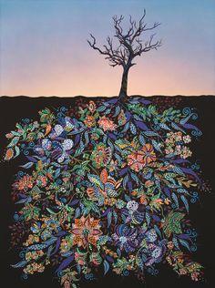 "Saatchi Online Artist: Erika Pochybova-Johnson; Acrylic Painting ""Sunrise"""