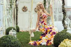 Dresses Made Up of Real Flowers