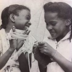 Happiness is knitting with my sister!