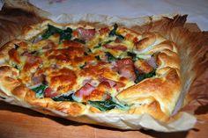 Deliciosa paparoca: Quiche de espinafres, queijo, abóbora e bacon