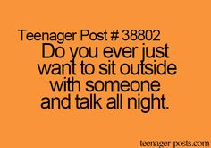 yeah but only with certain people