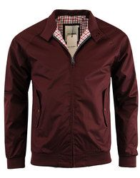 BEN SHERMAN Retro Mod Harrington Jacket in burnt red (claret): http://www.atomretro.com/21342 #bensherman #harrington #jacket #atomretro #mensfashion #mensstyle