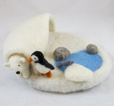 Arctic Needle Felted Play Mat