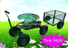 Details about Garden Cart Stool Rolling Work Scooter Tool Tray