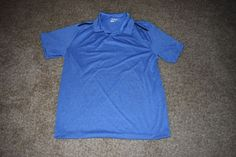 Nike Golf Dri Fit Mens Short Sleeve Polo Shirt Heather Blue Size Large L 573834 #Nike #PoloShirt