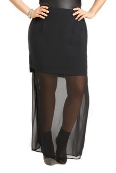 Sheer two piece skirt