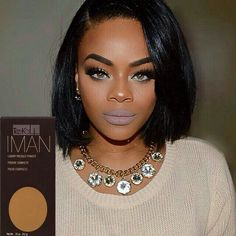 @brittanie_evans looking  in @imancosmetics Luxury Pressed Powder! #teeka4