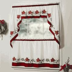 Kitchen Curtain Patterns Home Depot Cabinets 52 Best Curtains Images Blinds Windows Ideas Inspirational And Valances Christmas White