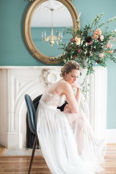 You'll fall hard for the details of this inspiration shoot - from the bountiful florals to the illusion neckline dress and every moment in between. Wedding Dress Pictures, Wedding Photos, Wedding Dresses, Spring Wedding, Dream Wedding, Illusion Neckline Dress, Bridal Shoot, Photo Poses, Photo Shoot