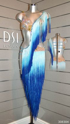 Ombre fringe, long fringe skirt, diagonal torso fringe