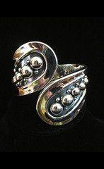 Aztec Silver Cuff Bracelet | Catnip Reproduction Vintage Clothing
