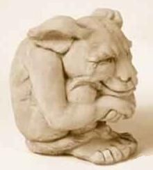 gargoyle; because his smile is playful