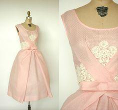 1960s Pretty in Pink Dress, Dalena Vintage #vintage #fashion