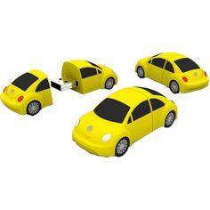 Yellow VW beetle USB