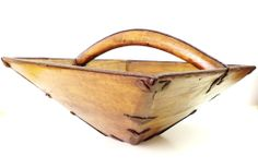 W130705 Antique 1600s Chinese wood mounted Authority food measurement bucket 官斗