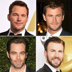 Chris Pratt, Chris Hemsworth, and Chris Evans Pictures | POPSUGAR Celebrity
