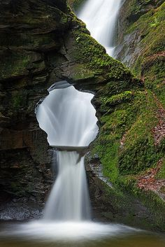 Merlin's Well, Cornwall, England. this says come see me in so many you're in England Cornwall just sound so British Its named after a magician It beautiful Beautiful Waterfalls, Beautiful Landscapes, Beautiful Scenery, Oh The Places You'll Go, Places To Travel, Places To Visit Uk, Travel Destinations, Photos Voyages, Belle Photo