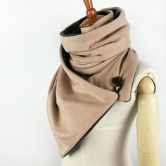 Button Up Fashion Loop scarf