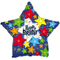 Bulk Happy Birthday Star Foil Balloons 18 At DollarTree Latex
