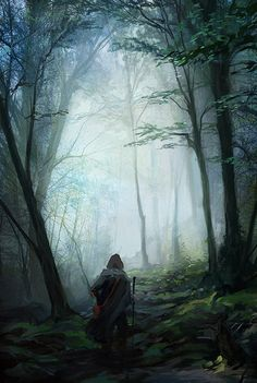 The edges of Glamdreth tend to be dark and murky. Sunlight barley reaches though the thick forest greens. But in the middle of this mysterious realm, sunlight would pour through the leaves, giving a happy glow to all of Glamdreth.