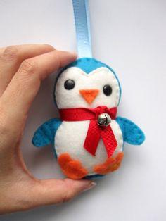 Adorable Felt Baby Penguin Plush Ornament $8