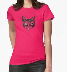 'Mollycat' T-shirt at Redbubble. #cats #tee #mollycatfinland #designs #girlsfashion #highstreet #redbubble #leisurewear #women #cute #coolness #colour #mollycat #vogue #couture