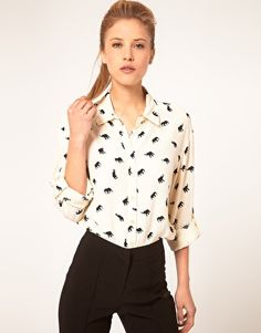 ASOS Shirt With Elephant Print