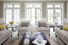 Modern Manor contemporary living room