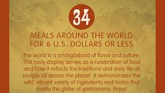 34 Meals Around the World for $6 or Less #Infographic