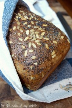 Whole Wheat Seed Bread for texture, great flavor and delicious bread for toast and sandwiches. | www.tryanythingonceculinary.com | #wholewheatbread
