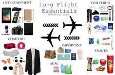 What's in My Carry-on for Long Flight !