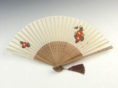 camellia on fan