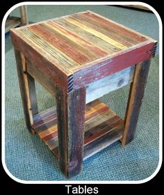 Barn wood end-table
