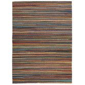Found it at Temple & Webster - Flat Weave Striped Design Rug Multi