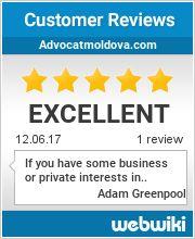Reviews of advocatmoldova.com