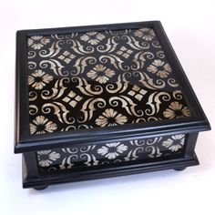 Elegant painted glass box from Peru. - Dogwood Hill Gifts