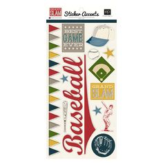 Echo Park - Grand Slam Collection - Cardstock Stickers at Scrapbook.com