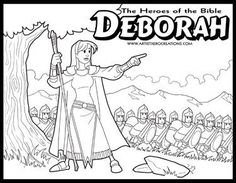 deborah judges bible coloring pages | Deborah in the Bible | Bible stories for kids, Kids sunday ...