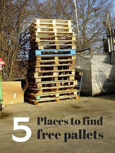 5 places to find free pallets for your DIY projects.