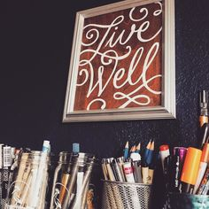 Living well thanks to my pens. #lettering #handlettering #signpainter